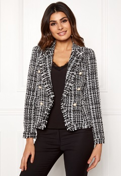 Girl In Mind Orla Tweed Blazer Blk/White Bubbleroom.eu