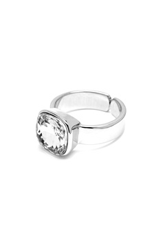 BY JOLIMA Glam Crystal Ring Crystal Silver Bubbleroom.eu