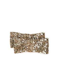 Heelow Glitter Bow Clips Guld Bubbleroom.eu