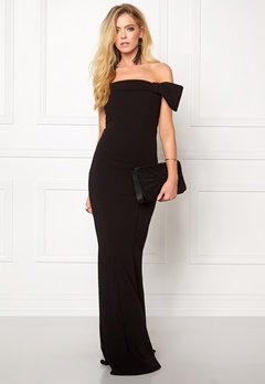 Goddiva Bardot Fishtail Maxi Dress Black Bubbleroom.eu
