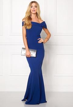 Goddiva Bardot Fishtail Maxi Dress Royal Blue Bubbleroom.eu
