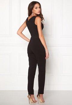 Goddiva Bardot Pleated Jumpsuit Black Bubbleroom.eu