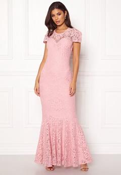 Goddiva Cap Sleeve Lace Dress Blush Bubbleroom.eu