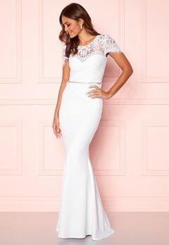 Goddiva Cap Sleeve Wedding Dress White Bubbleroom.eu