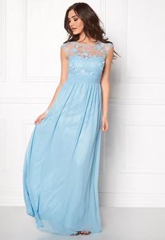 Goddiva Chiffon Maxi Dress Light Blue Bubbleroom.eu