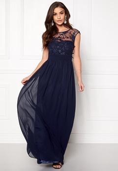 Goddiva Chiffon Maxi Dress Navy Bubbleroom.eu