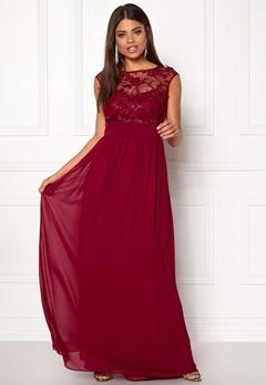 Goddiva Chiffon Maxi Dress Wine Bubbleroom.eu