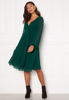 Goddiva Chiffon Midi Dress Green Bubbleroom.eu
