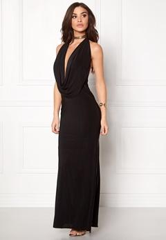 Goddiva Cowl Neck Maxi Dress Black Bubbleroom.eu