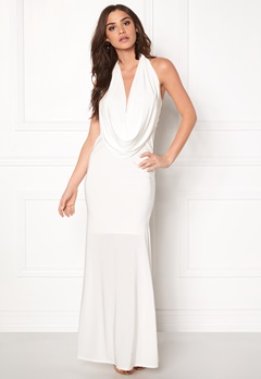 Goddiva Cowl Neck Maxi Dress White Bubbleroom.eu