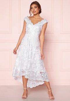 Goddiva Embroidered Lace Dress White Bubbleroom.eu