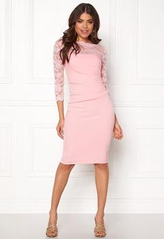 Goddiva Fitted Midi Dress Pink Bubbleroom.eu
