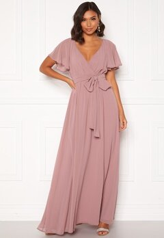 Goddiva Flutter Chiffon Dress Lavender Bubbleroom.eu