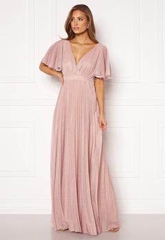 Goddiva Flutter Glitter Dress Blush Bubbleroom.eu