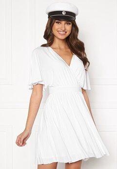 Goddiva Flutter Sleeve Dress White Bubbleroom.eu