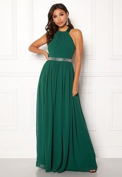 Goddiva Halterneck Chiffon Maxi Dress Green Bubbleroom.eu