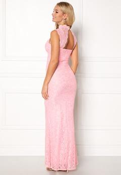 Goddiva High Neck Cut Out Lace Pink Bubbleroom.eu