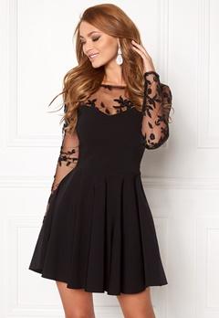 Goddiva Mesh Skater Dress Black Bubbleroom.eu