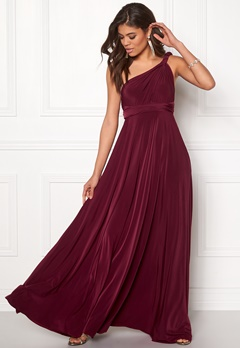 Goddiva Multi Tie Maxi Dress Berry Bubbleroom.eu