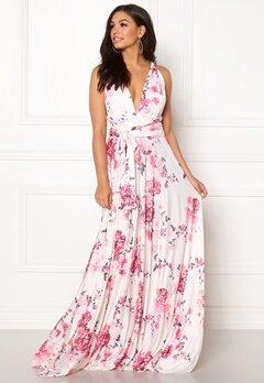 Goddiva Multi Tie Maxi Dress Floral Print Bubbleroom.eu