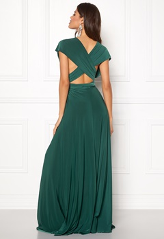 Goddiva Multi Tie Maxi Dress Green Bubbleroom.eu