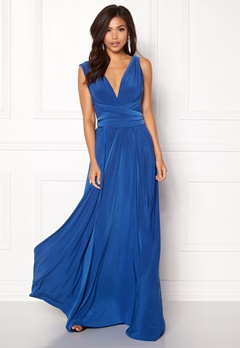 Goddiva Multi Tie Maxi Dress Royal Bubbleroom.eu