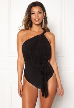 Goddiva Multi Tie Swimsuit Black Bubbleroom.eu