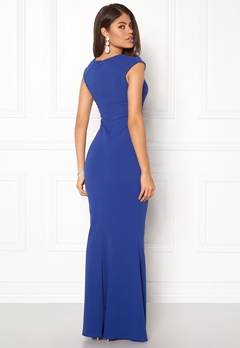 Goddiva Pleated Maxi Dress Royal Blue Bubbleroom.eu
