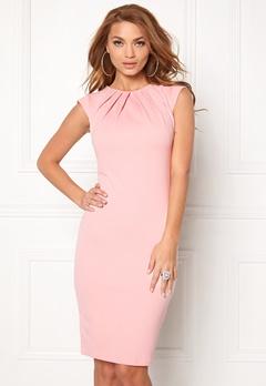 Goddiva Pleated Neckline Dress Pink Bubbleroom.eu