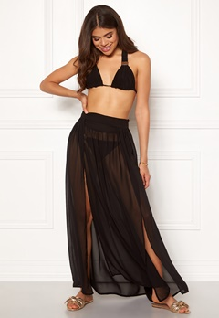 Goddiva Resort Kendra Split Maxi Skirt Black Bubbleroom.eu