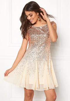 Goddiva Sequin And Chiffon Dress Champagne Bubbleroom.eu