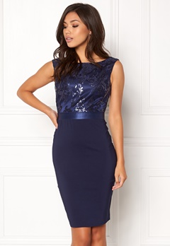 Goddiva Sequin Embellished Dress Navy Bubbleroom.eu