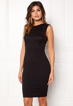 Goddiva Sleeveless Lace Dress Black Bubbleroom.eu