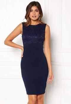 Goddiva Sleeveless Lace Dress Navy Bubbleroom.eu
