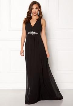 Goddiva V Neck Embellished Dress Black Bubbleroom.eu