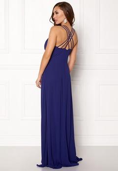 Goddiva V Neck Embellished Dress Royal Bubbleroom.eu