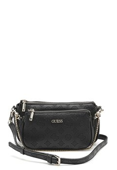 Guess Dayane Double Pouch Black Bubbleroom.eu