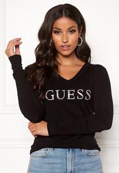Guess LS V-Neck Emilia Sweater Jet Black Bubbleroom.eu