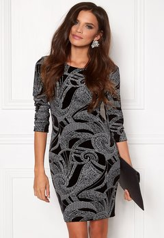 Sisters Point Gunila-3 Dress Black/Silver Bubbleroom.eu