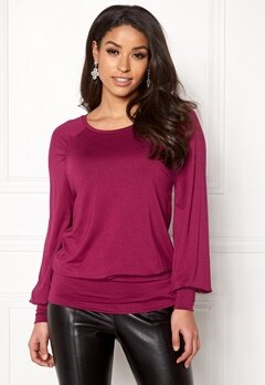 Happy Holly Adela cuff top Dark fuchsia Bubbleroom.eu