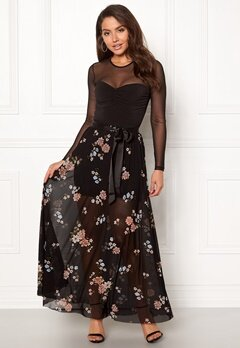 Happy Holly Alaina maxi skirt Black / Patterned Bubbleroom.eu