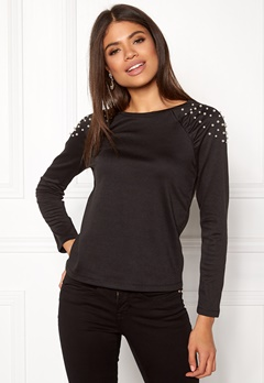Happy Holly Alana top Black Bubbleroom.eu
