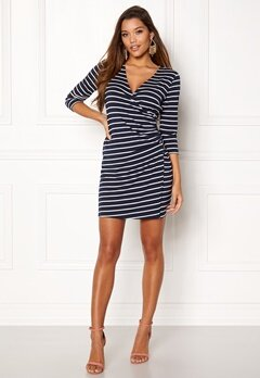 Happy Holly Alena dress Navy / Striped Bubbleroom.eu