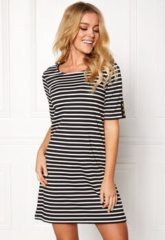 Happy Holly Alex dress Black / Offwhite Bubbleroom.eu
