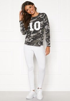 Happy Holly Alexa ls tee Grey melange / Camouflage Bubbleroom.eu