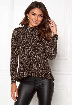 Happy Holly Alexandra top Leopard Bubbleroom.eu