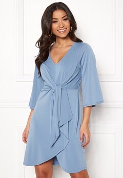 Happy Holly Alva dress Dusty blue Bubbleroom.eu