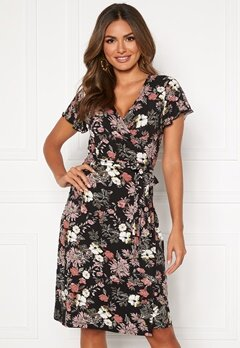 Happy Holly Amanda wrap dress Black / Patterned Bubbleroom.eu