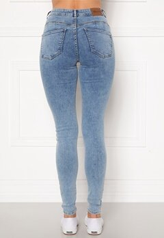 Happy Holly Amy push up jeans Light denim Bubbleroom.eu
