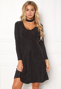 Happy Holly Arlene dress Black / Silver Bubbleroom.eu